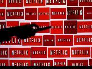 Un mural con el logotipo de Netflix