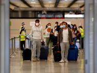 Pasajeros en el Aeropuerto de Madrid Barajas
