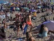 La playa de Barcelona durante la pandemia del coronavirus
