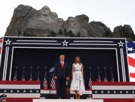 President Trump and First Lady Melania Trump attend Independence Day events at Mount Rushmore on July 3, 2020 SAUL LOEB/AFP via Getty Images)
