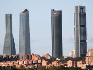 La Torre PwC, entre Torre Espacio, la Torre de Cristal y Torre Cepsa, en Madrid