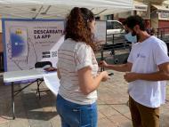 Voluntarios en La Gomera explican RadarCOVID.