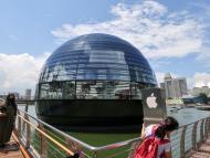 La Apple Store flotante de Singapur