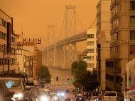 El cielo de San Francisco, teñido de naranja por los incendios que están arrasando California
