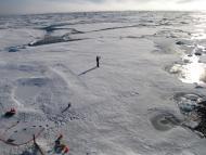 Derretimiento de las capas de hielo.