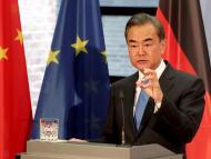 El ministro de Exteriores chino, Wang Yi, en una visita a Alemania.