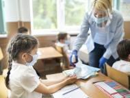 Niños en el cole durante la pandemia