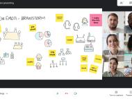 Pizarra virtual en Google Meet.