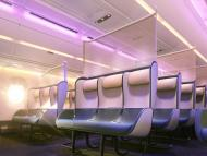 A renowned design firm unveiled a new concept to overhaul airplane cabins for a post-pandemic world that includes removing cabin classes and staggering economy seats – take a look