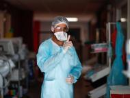 Sanitario en el hospital.
