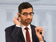 El CEO de Google, Sundar Pichai, en un acto en Finlandia.