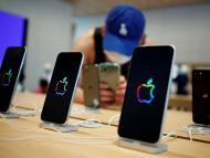 Un expositor de una Apple Store