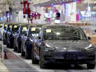 Fábrica de Tesla en Shangai (China).