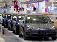 Fabricación del Tesla Model 3 en la factoría de Shangái (China)