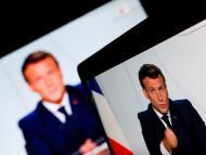 El presidente francés, Emmanuel Macron, durante una comparecencia