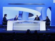Ricardo Álvarez,CEO de DIA España; Vanessa Prats, vicepresidente y directora general de P&G España y Portugal; Juan Luís Durich, director general de Consum en el 35º Congreso de Gran Consumo de Aecoc.