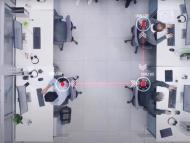 Sensores inteligentes para mantener la distancia social en las oficinas.