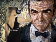 Anna Zhilyaeva, artista de VR, dibujando a Sean Connery.