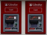 Un cajero automático de un banco de Gibraltar