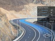 Información de mapas de TomTom en sistema de asistencia a la conducción