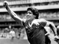 Maradona en la semifinal contra Inglaterra en el Mundial de 1986