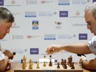 Partida de ajedrez entre Kaspárov y Karpov