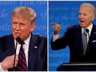 Trump y Biden en el debate electoral.