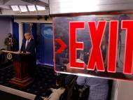 Trump, durante una comparecencia en la Casa Blanca tras las elecciones presidenciales de 2020