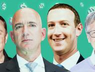 Elon Musk, Jeff Bezos, Mark Zucckerberg y Bill Gates