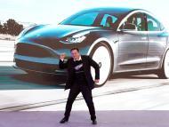 Elon Musk durante un evento de Tesla en su fábrica de Shangái (China)