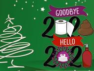 Imagen graciosa para felicitar el año 2021