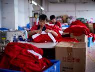 Trabajadores de la ciudad de Yiwu, China