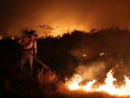 Fuego en el Amazonas, Brasil, en septiembre de 2020