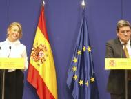 La ministra de Trabajo, Yolanda Díaz, y el de Seguridad Social, José Luis Escrivá