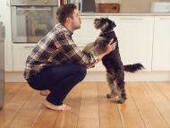 Perro y su dueño.