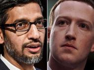 Sundar Pichai, CEO de Google; y Mark Zuckerberg, CEO de Facebook.