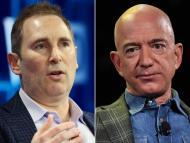 Andy Jassy (i) y Jeff Bezos (d)