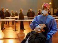 Test de coronavirus en Madrid