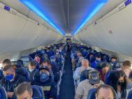 Pasajeros de un Boeing 737 Max 9 de United Airlines.