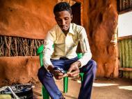 Médico en el campo de refugiados de Kenia