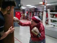 Nancy Van Der Stracten boxea para luchar contra la enfermedad de Parkinson