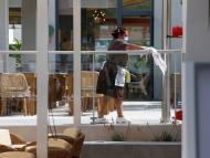 Trabajadora en un hotel en Mallorca