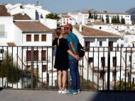 Turistas en Ronda, Málaga.