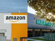 Un almacén de Amazon y un supermercado de Mercadona