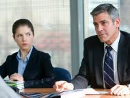 Anna Kendrick y George Clooney en 'Up in the air', como Natalie Keener y Ryan Bingham.