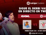 Ibai Llanos y Ander Cortes retransmitirán el Real Sociedad - Athletic por Twitch.