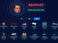 Imagen del juego que te propone gastar la fortuna de Elon Musk en 30 segundos.