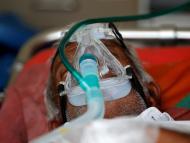 Un paciente de coronavirus en la India