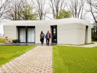 3d printed concrete home with project milestone