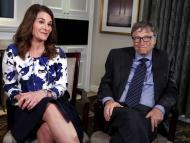 Bill y Melinda Gates en una entrevista